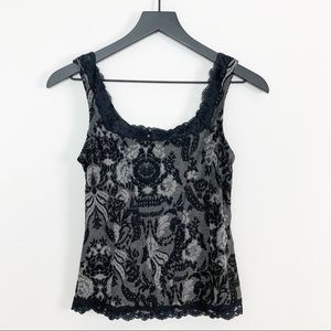 Anthropologie Arianne Jacquard Corset Tank Top M
